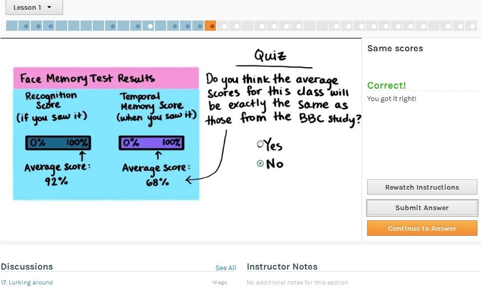Udacity lesson in statistics