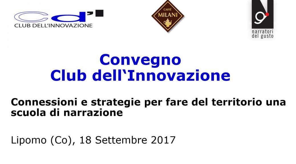 Club dell'Innovazione logo e riferimenti convegno Lipomo